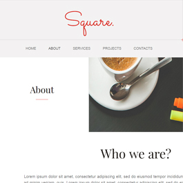 Square site template